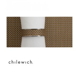 Chilewich Serviettenring Mini Basketweave Narrow new gold