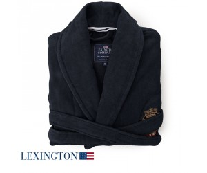 Lexington Bademantel Velour schwarz