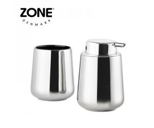 Zone Seifenspender & Zahnputzbecher Nova One Silver