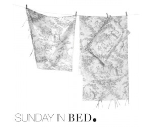 Sunday in Bed Bettwäsche Toile grau