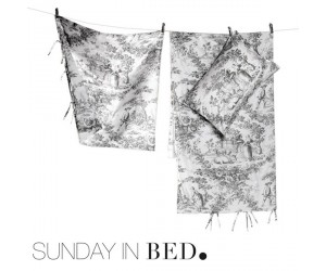 Sunday in Bed Bettwäsche Toile schwarz (155 x 220 cm)