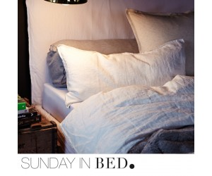 Sunday in Bed Bettwäsche Washed Linen weiß