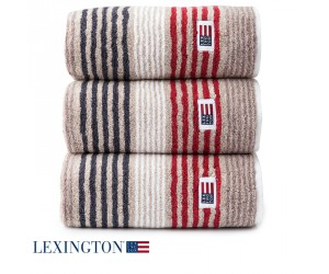Lexington Handtuch Original Stripe beige/rot