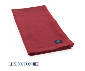 Lexington Tischläufer Oxford Striped rot/rot