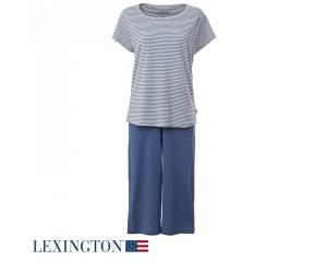 Lexington Pyjama Paulina blau/grau