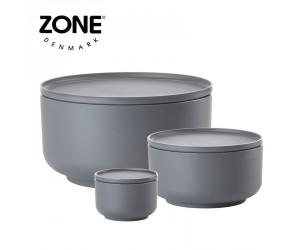 Zone Schale Peili 3er Set cool grey