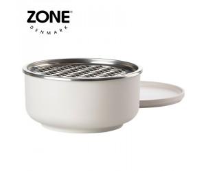 Zone Schale Peili mit Reibe groß warm grey