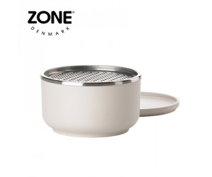 Zone Schale Peili mit Reibe klein warm grey