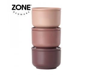 Zone Schale Peili 3er Set nude/siena red/plum