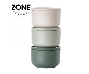 Zone Schale Peili 3er Set warm grey/ice green/cactus