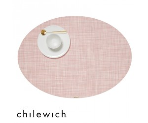 Chilewich Set Oval Mini Basketweave blush