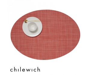 Chilewich Set Oval Mini Basketweave  guava