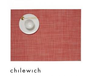 Chilewich Set Rechteckig Mini Basketweave guava