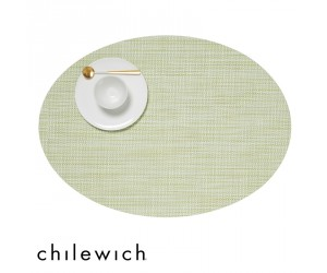 Chilewich Set Oval Mini Basketweave matcha