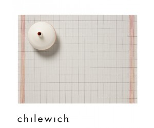 Chilewich Set Rechteckig Selvedge natural-orange