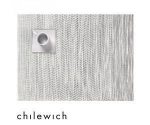Chilewich Set Rechteckig Wave weiß - schwarz