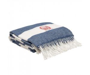 Gant Plaid / Decke Rugby Stripe moonlight blue