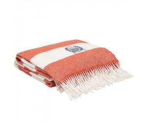 Gant Plaid / Decke Rugby Stripe sunset orange