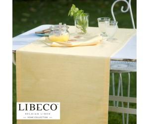 Libeco Tischdecke und Läufer Polylin lemon