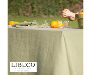 Libeco Tischdecke und Läufer Polylin grün