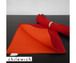 Chilewich Serviette Double/ Reversible pomodoro/papaya
