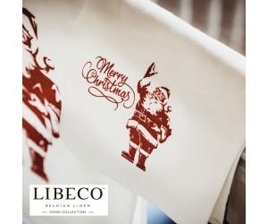 Libeco Servietten Set Prints Merry Christmas santa (6 Stück)