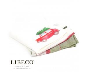 Libeco Servietten Set Prints Merry Christmas tree (6 Stück)
