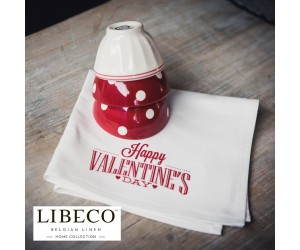Libeco Servietten Set Prints Valentine´s Day (6 Stück)