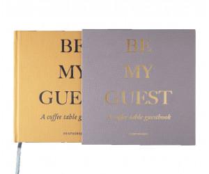 """Printworks Gästebuch  """"Be my Guest"""" beige/gelb"""
