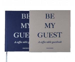 """Printworks Gästebuch """"Be my Guest"""" grau/navy"""