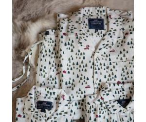 Lexington Pyjama Holiday Printed Cotton Flanell Größe S white/green