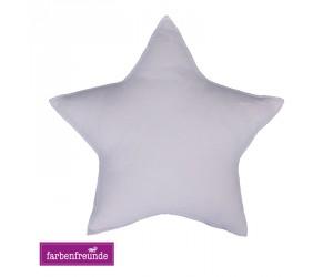 Farbenfreunde Stern-Dekokissen milch