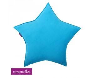 Farbenfreunde Stern-Dekokissen sommerpetrol