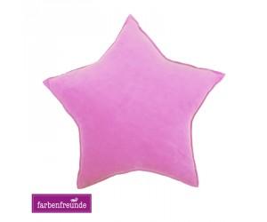 Farbenfreunde Stern-Dekokissen zuckerwatte