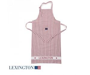 Lexington Schürze Striped rot