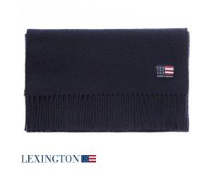 Lexington Schal Wool Massachusetts deep marine blue