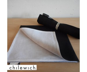 Chilewich Serviette Double/ Reversible schwarz/weiß
