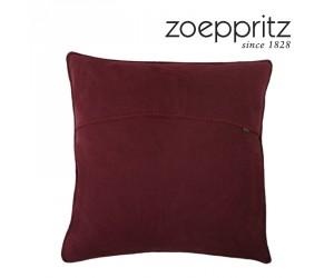 Zoeppritz Dekokissen Soft-Fleece burgunder-390