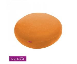 Farbenfreunde Stegkissen soft orange (rund & rechteckig)