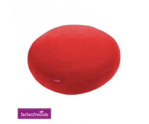 Farbenfreunde Stegkissen tomate (rund & rechteckig)