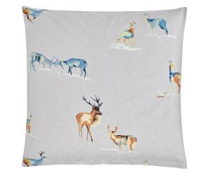 Christian Fischbacher Bettwäsche It`s Snowing My Deer grau