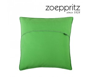 Zoeppritz Dekokissen Soft-Fleece neon green