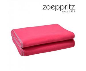 Zoeppritz Plaid Soft-Fleece deep pink (in 2 Größen)
