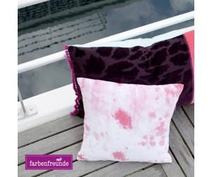 Farbenfreunde Dekokissen Splash hibiskus quadratisch