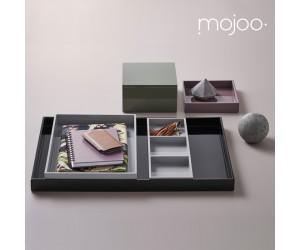 Mojoo Lacktablett mit 3 Fächern cool grey