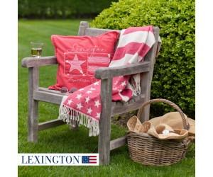 Lexington Plaid Flag Throw rot