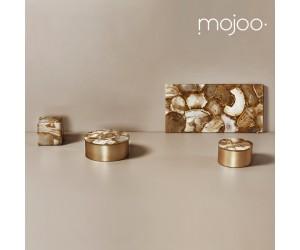 Mojoo Agate-Box rund small gold