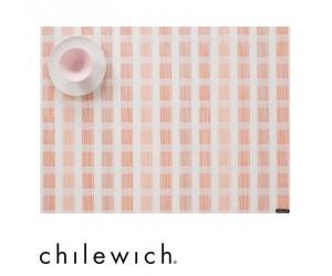 Chilewich Tischset Stitch coral