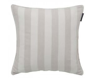 Lexington Viskose-Leinen Dekokissen Stripe Sham beige/weiß (50 x 50 cm)