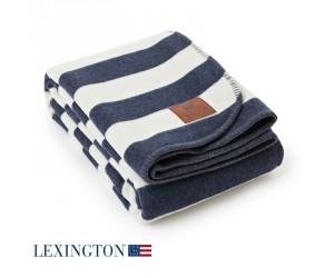 Lexington Bettüberwurf Striped blau/weiß